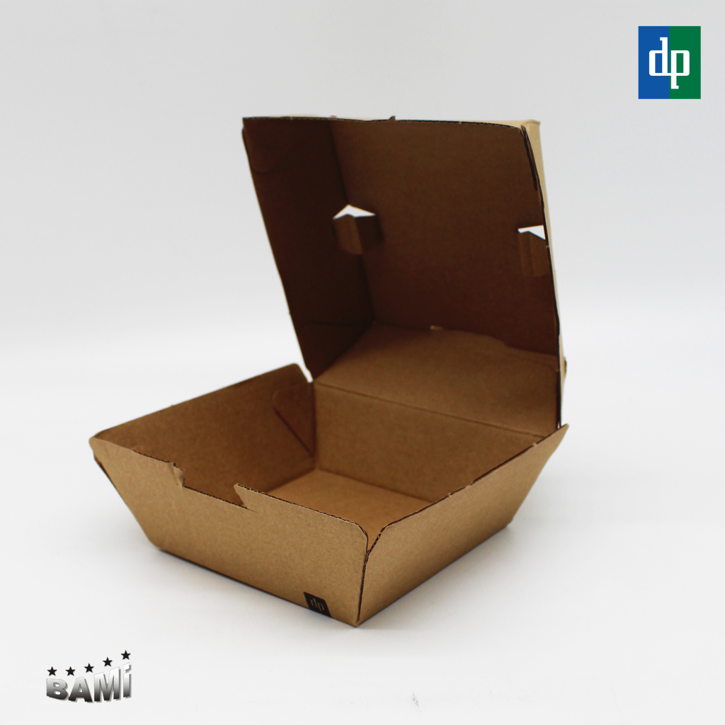 Hamburgerbox Braun 3