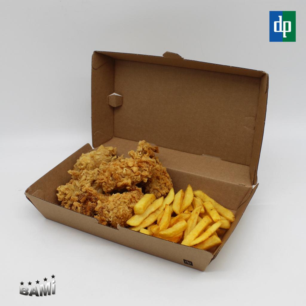 Lunchbox Braun mit Inhalt