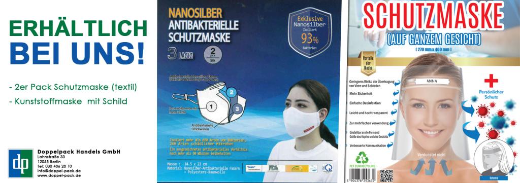 Slider Schutzmasken Doppelpack